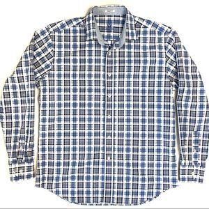 BUGATCHI Men's Long Sleeve Button Down Shirt